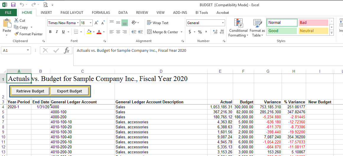Sage 300 Tips and Tricks: Exporting and Importing Budgets - the easy