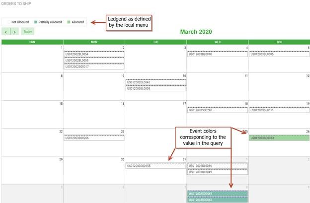 Color Coding of the Calendar Gadget in Sage X3