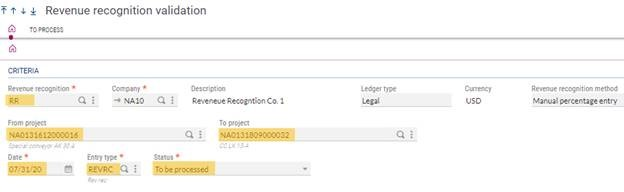Revenue Recognition in Sage X3